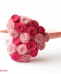 diadema surce rozovo