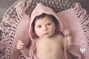 bebshka shapka rozovo
