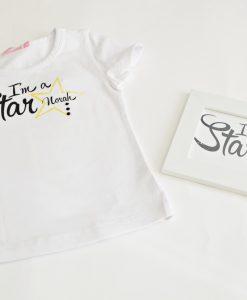 детска блуза с надпис I'm a star