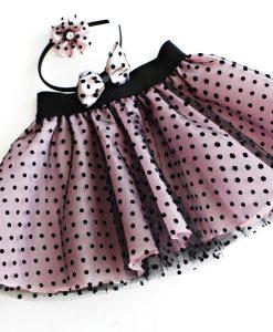 pink black tule skirt