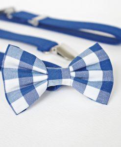 папионка синьо каре