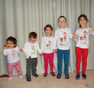 five christmas elfs