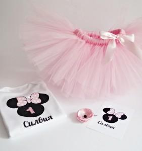 tutu set minnie mouse pink