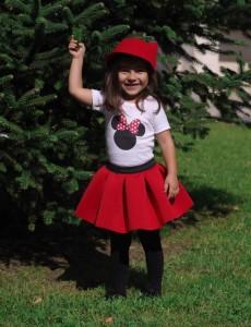 детска червена пола от неопрен