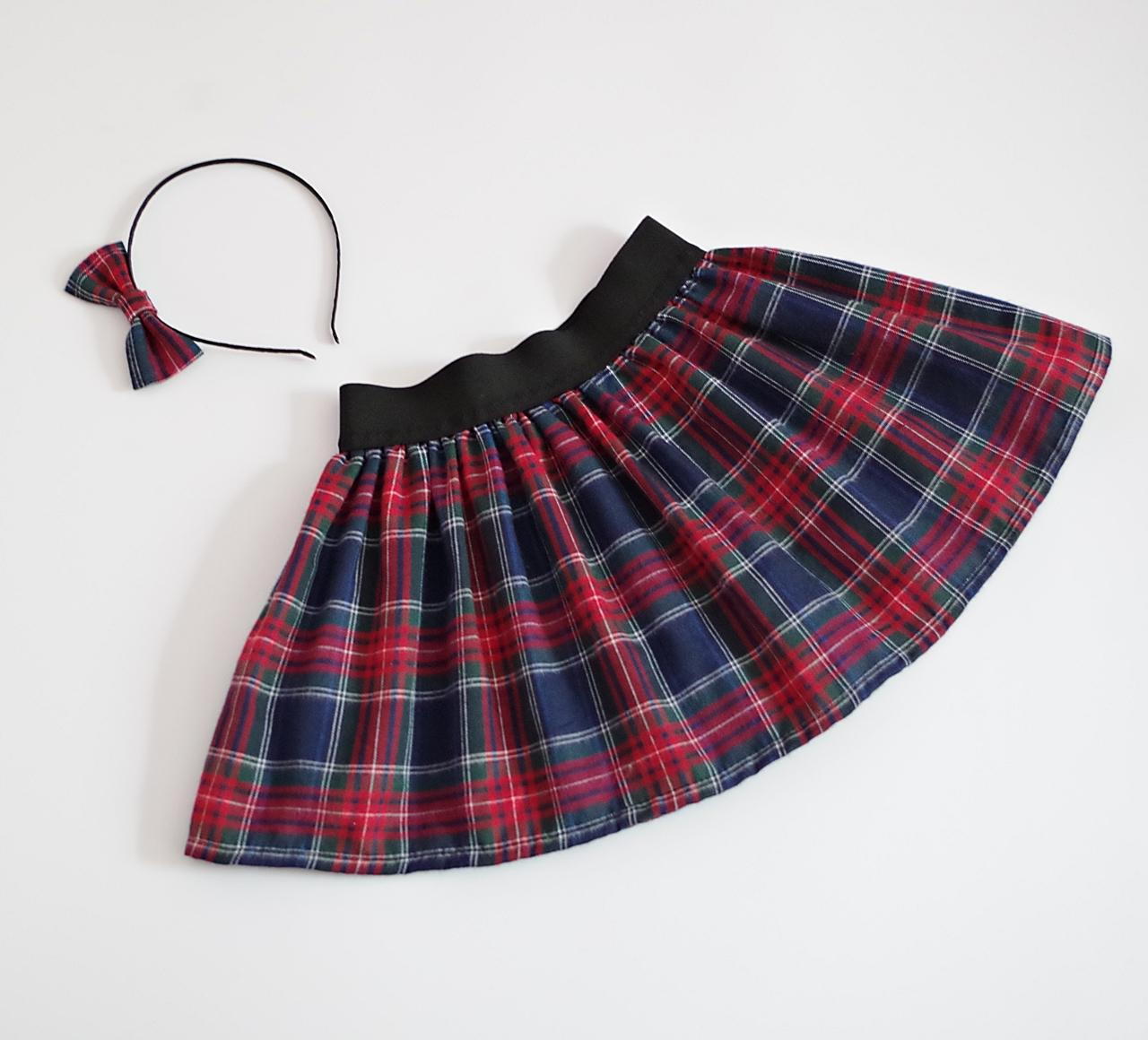 детска пола шотландско каре