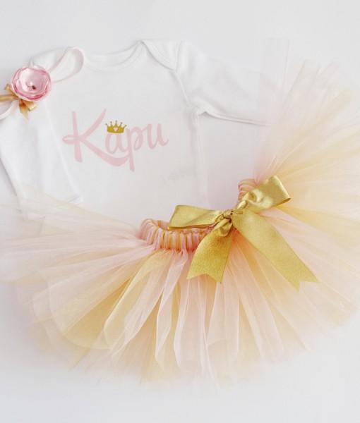 комплект за рожден ден розово и златно