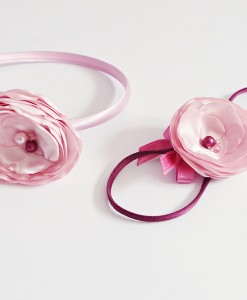 лента и диадема в розово