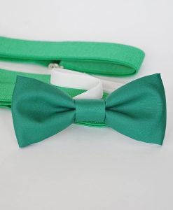 зелена детска папионка