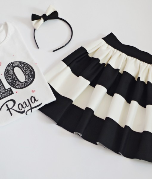 комплект за рожден ден черно и бяло