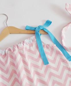детска лятна рокля в розово