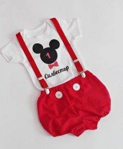 комплект за първи рожден ден мики маус в червено