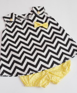 туника и панталонки зигзаг черно и жълто