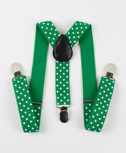 зелени тиранти на бели точки