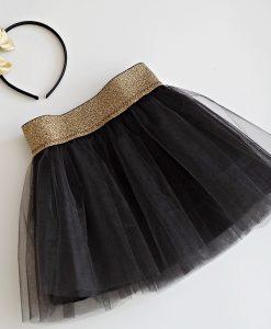 детска пола черно и златно