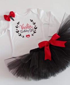 комплект за рожден ден в червено и черно