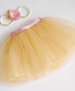 детска пола в златно и розово