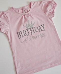 Блузка за рожден ден с надпис Birthday Princess