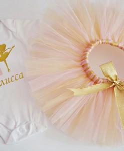 Пола и блуза за рожден ден с балерина