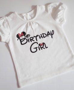 блузка за рожден ден birthday girl с мини маус