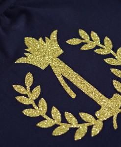 блузка с цифра за рожден ден в черно и златно