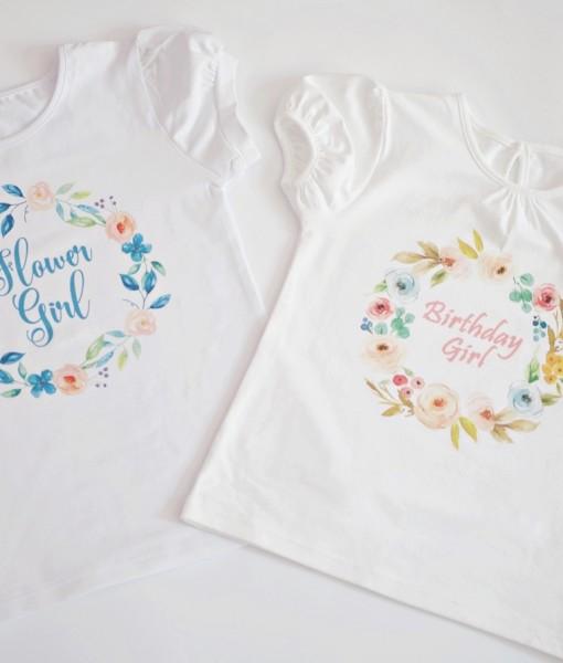 Детски блузи с цветя