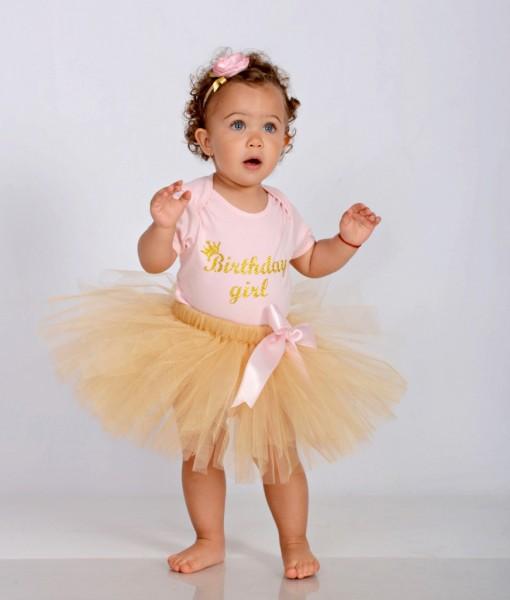 Комплект за рожден ден в златно и розово