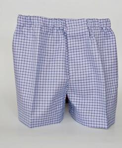 Къси панталонки с тиранти и папийонка в синьо