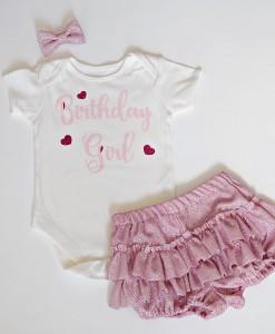 Бебешки комплект за рожден ден в розово