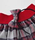 Детска пола и диадема сиво и червено каре