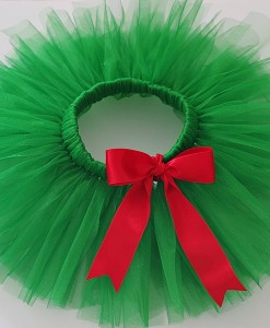 Коледна зелена туту пола