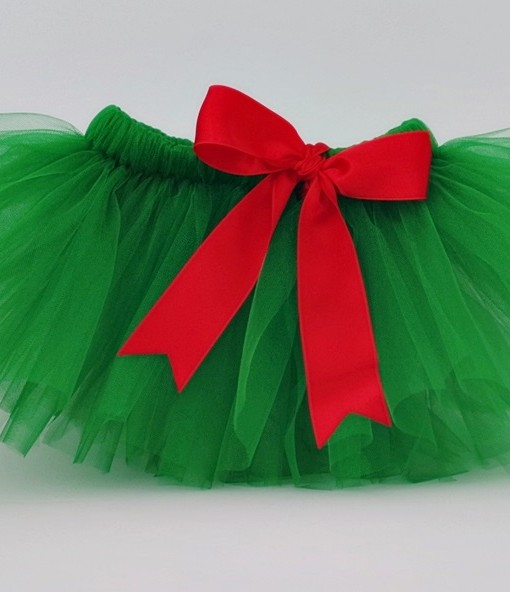 коледна туту пола в зелено