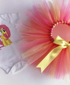 Детски комплект от пола и боди Малкото Пони