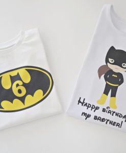 Тениски за брат и сестра Батман