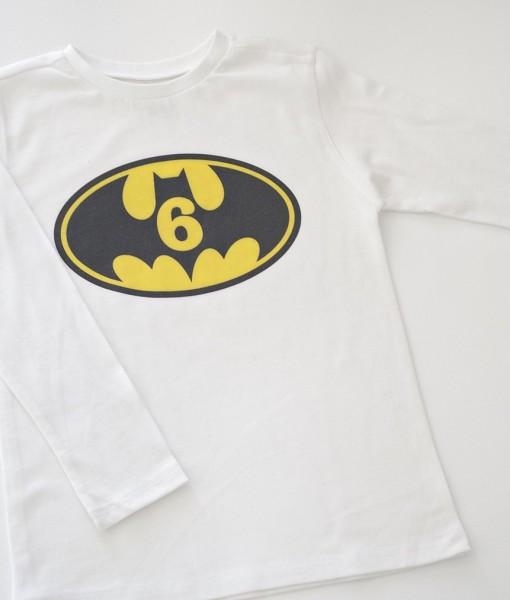 Тениска за рожден ден с батман