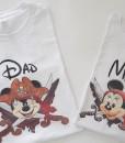 Тениски за мама и татко Мики и Мини Маус Пирати