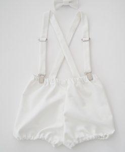 Бебешки панталонки за кръщене с тиранти и папионка