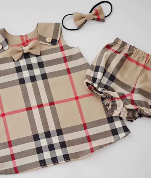 Детска рокля с гащички Бърбъри