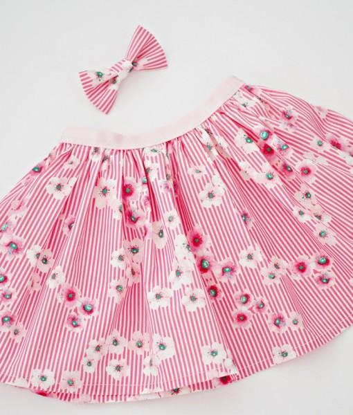 Детска пола розови цветя