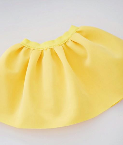 Жълта детска пола от неопрен