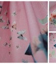 Детска розова пола Пеперуди