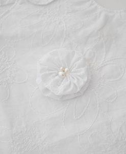бяла рокля за кръщене с аксесоари