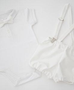 детски комплект за кръщене в бяло