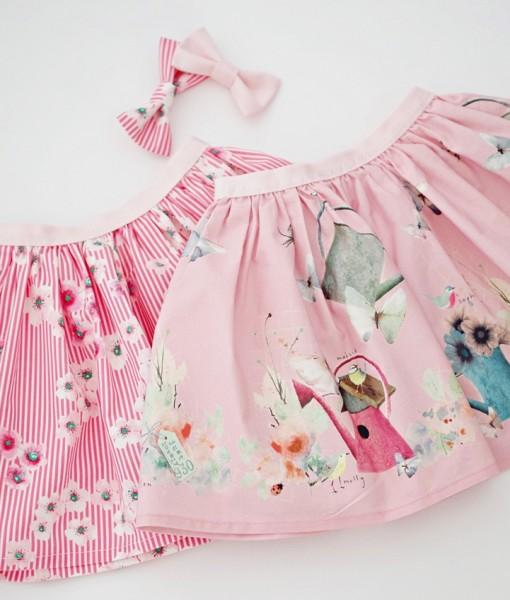 детски летни поли в розово