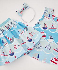 детска пола и рокля лодки