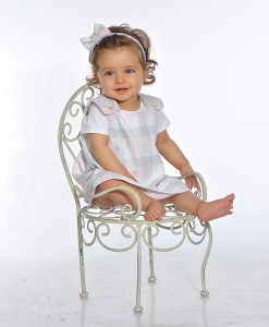 бебешка рокля сиво и розово
