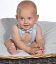 бебешки панталонки с тиранти и ппионка меланж