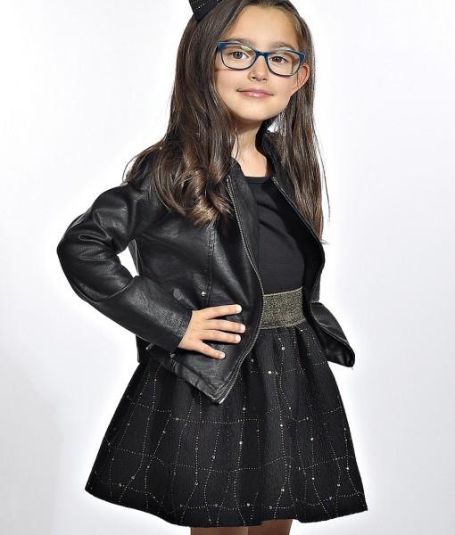 детска пола в черно и златно