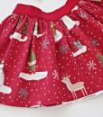 Детска коледна пола в червено с принт
