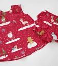 бебешка коледна рокля с гащички