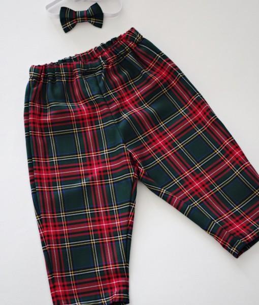 бебешки панталон в шотландско каре